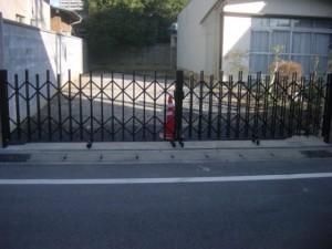 駐車場ゲート 施工